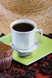 Kaffee und Muffins Stockfoto