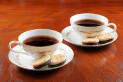Kaffee und Plätzchen Stockfotografie