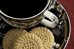 Kaffee und Plätzchen Stockfotos