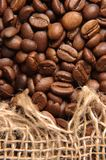 Kaffee und Sack Stockbild