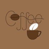 Kaffee- und Schalenlogoschablone Lizenzfreie Stockfotos