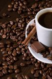 Kaffee und Schokolade Lizenzfreies Stockfoto