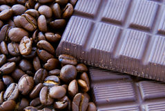 Kaffee und Schokolade lizenzfreie stockfotografie