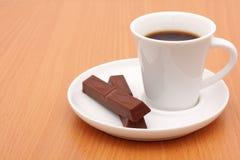 Kaffee und Schokolade Stockbild