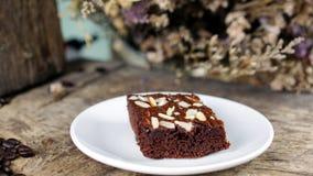 Kaffee-und Schokoladen-Schokoladenkuchen Stockbild