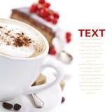 Kaffee- und Schokoladenkuchen Stockbild