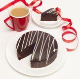 Kaffee- und Schokoladenkuchen lizenzfreies stockfoto