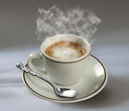 Kaffee und spon stockfoto