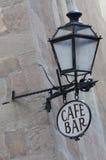 Kaffee und Stab Signage Stockbild
