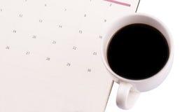 Kaffee und Tagesplaner VI Stockfoto