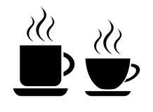 Kaffee- und Teecup lizenzfreie abbildung