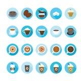 Kaffee- und Teeschalenikonen eingestellt Lizenzfreies Stockbild