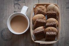 Kaffee und Waffeln Lizenzfreies Stockfoto