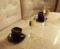 Kaffee und Wein Lizenzfreies Stockbild