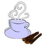 Kaffee und Zimt Stockfotos