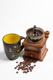 Kaffee und Zubehör Lizenzfreie Stockfotos