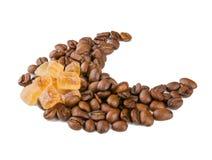 Kaffee und Zucker Stockbild