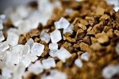 Kaffee und Zucker Stockfotografie