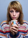 Kaffee unser Tee Stockbild
