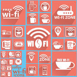 Kaffee WIFI-Ikonen 2 Lizenzfreie Abbildung