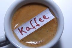 Kaffee word in German for Coffee in English Stock Photo