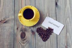 Kaffee zum Frühstück Stockfotografie