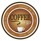 Kaffee zum zu gehen lizenzfreie abbildung