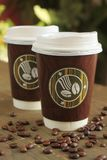 Kaffee zum zu gehen Lizenzfreie Stockbilder