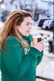 Kaffee zum zu gehen Stockfoto