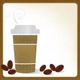 Kaffee, zum zu gehen Feld Lizenzfreies Stockfoto