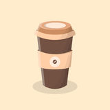 Kaffee zum zu gehen Tasse Kaffee Lizenzfreie Stockbilder