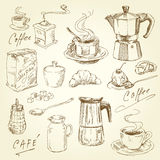 Kaffeeansammlung Stockbild