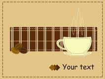 Kaffeeartpatchwork Stockbild
