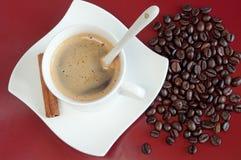 Kaffeeaufbau Lizenzfreie Stockfotos