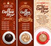 Kaffeeaufkleber Stockbild