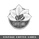 Kaffeeaufkleberschablone Stockfotografie