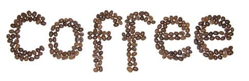 Kaffeeaufschrift Lizenzfreies Stockfoto