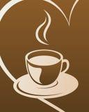 Kaffeeauslegung Stockfoto