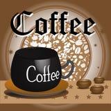Kaffeeauslegung Lizenzfreies Stockfoto