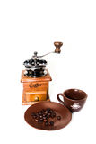 Kaffeeausrüstungssatz Lizenzfreie Stockfotos