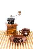 Kaffeeausrüstungssatz Lizenzfreies Stockfoto