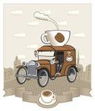 Kaffeeauto Vektor Abbildung