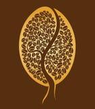 Kaffeebaum. Kaffeebohne lizenzfreie abbildung