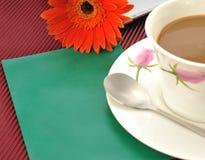Kaffeeblumenumschlag stockfoto