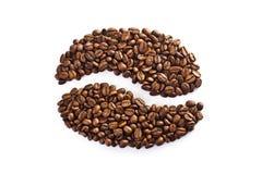 Kaffeebohne bildete von einem Satz Körnern Lizenzfreie Stockfotografie