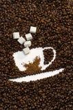 Kaffeebohne-Cup Lizenzfreie Stockfotos
