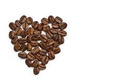 Kaffeebohne in der Liebe Stockfotos