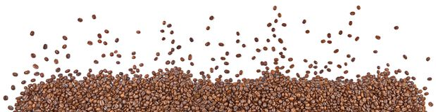 Kaffeebohne-Panorama lizenzfreies stockbild