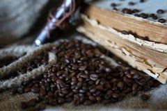 Kaffeebohne-Seilbuch Lizenzfreie Stockfotografie