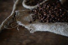 Kaffeebohne-Seilbuch Stockfoto